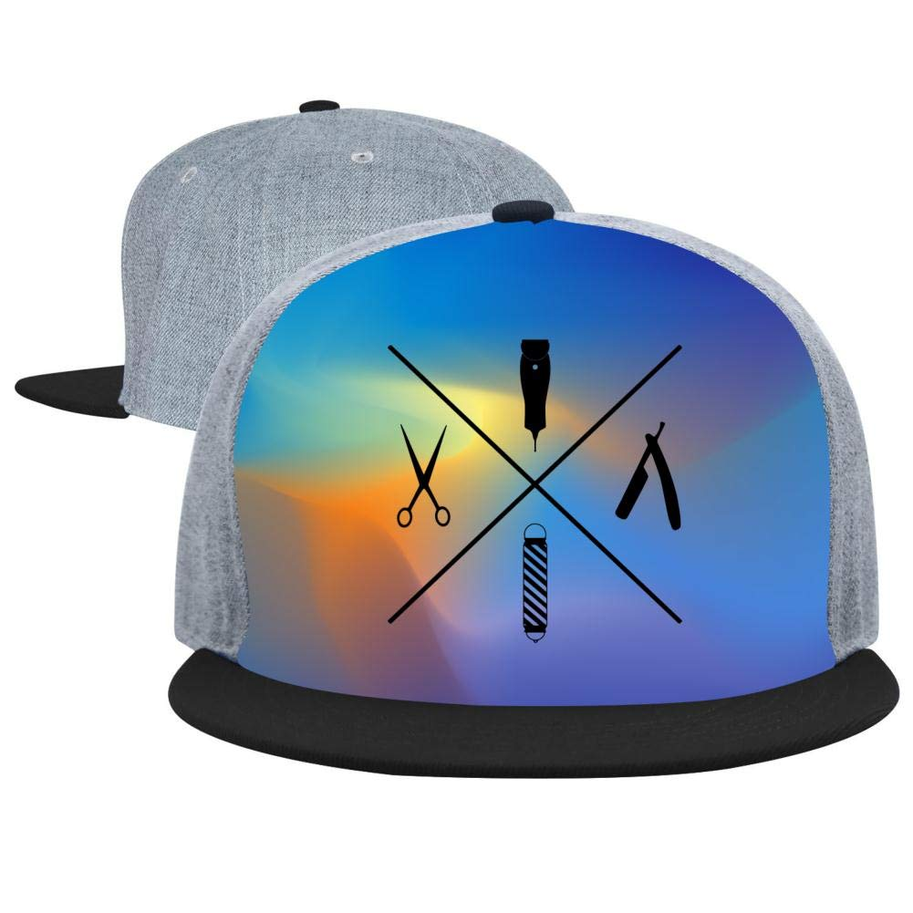 MYHAT Unisex Summer Adjustable Baseball Flat Cap Minimalistic Barber Trucker Hat Sports Hip Hop Cool Hat