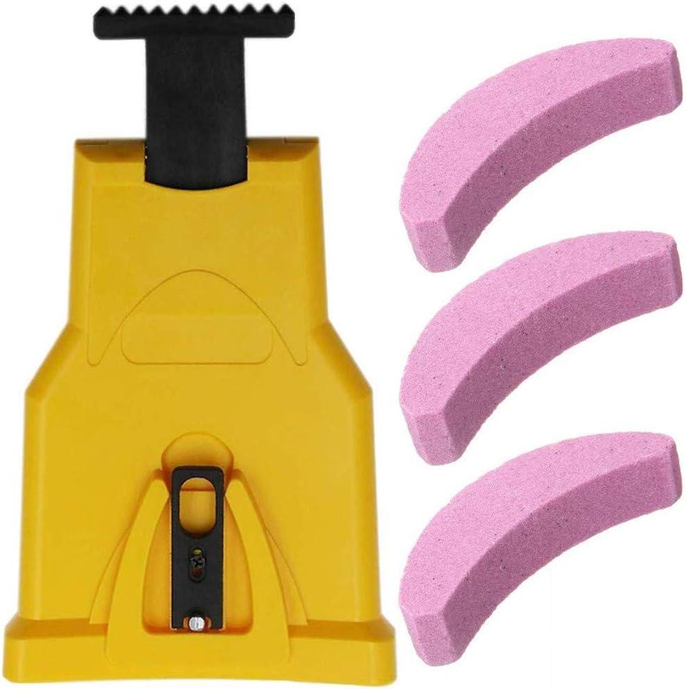 PXD913 Afilador de Motosierra portátil Universal, Afilado automático rápido para Cadenas de Sierra para carpintería, con 3 Piedras de afilar, Adecuado para afilador de 16-20 Pulgadas