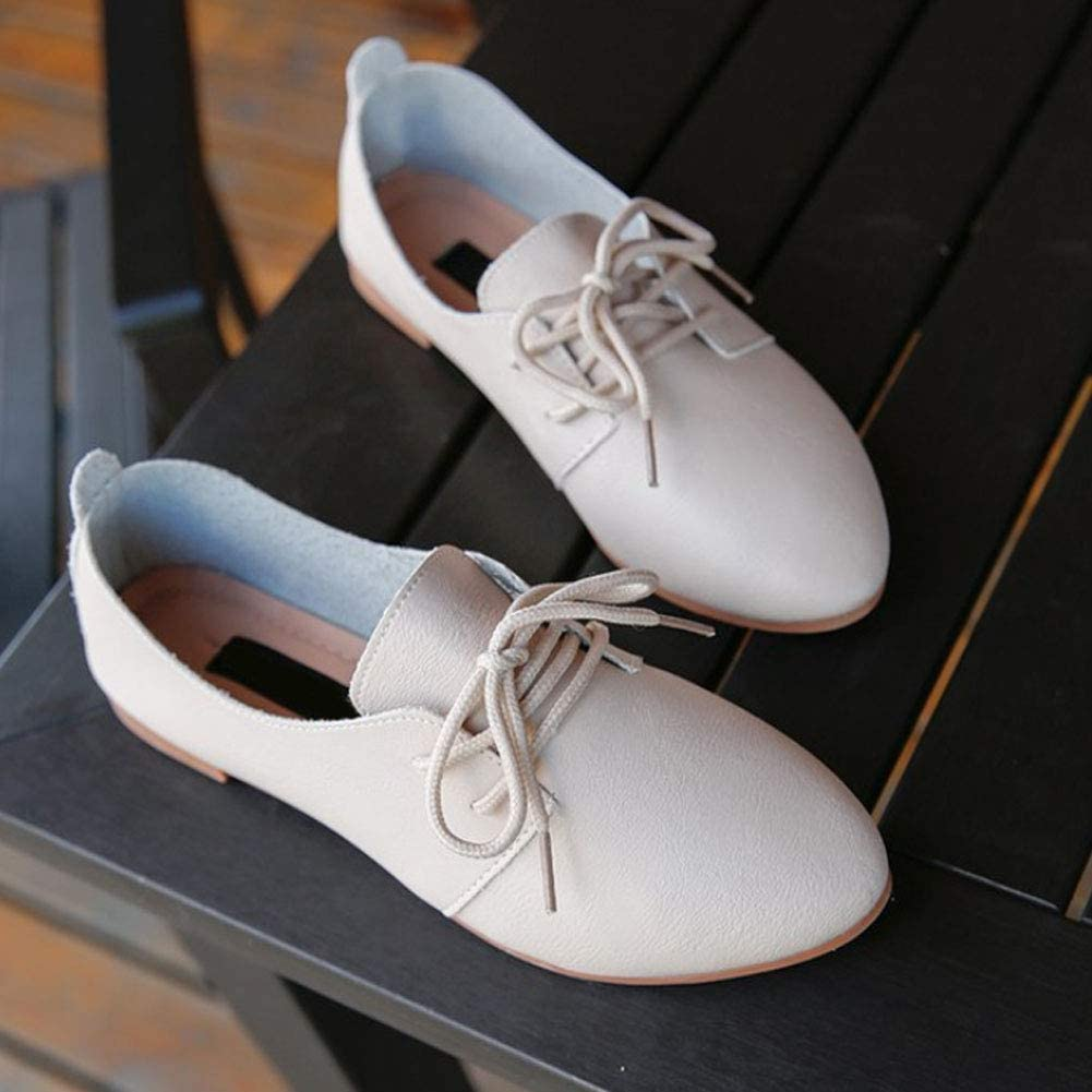Daytwork Lacets Confortable Chaussures Plates Femmes Mode Brogue Pointu Mocassins Doux Classique Marche Conduite