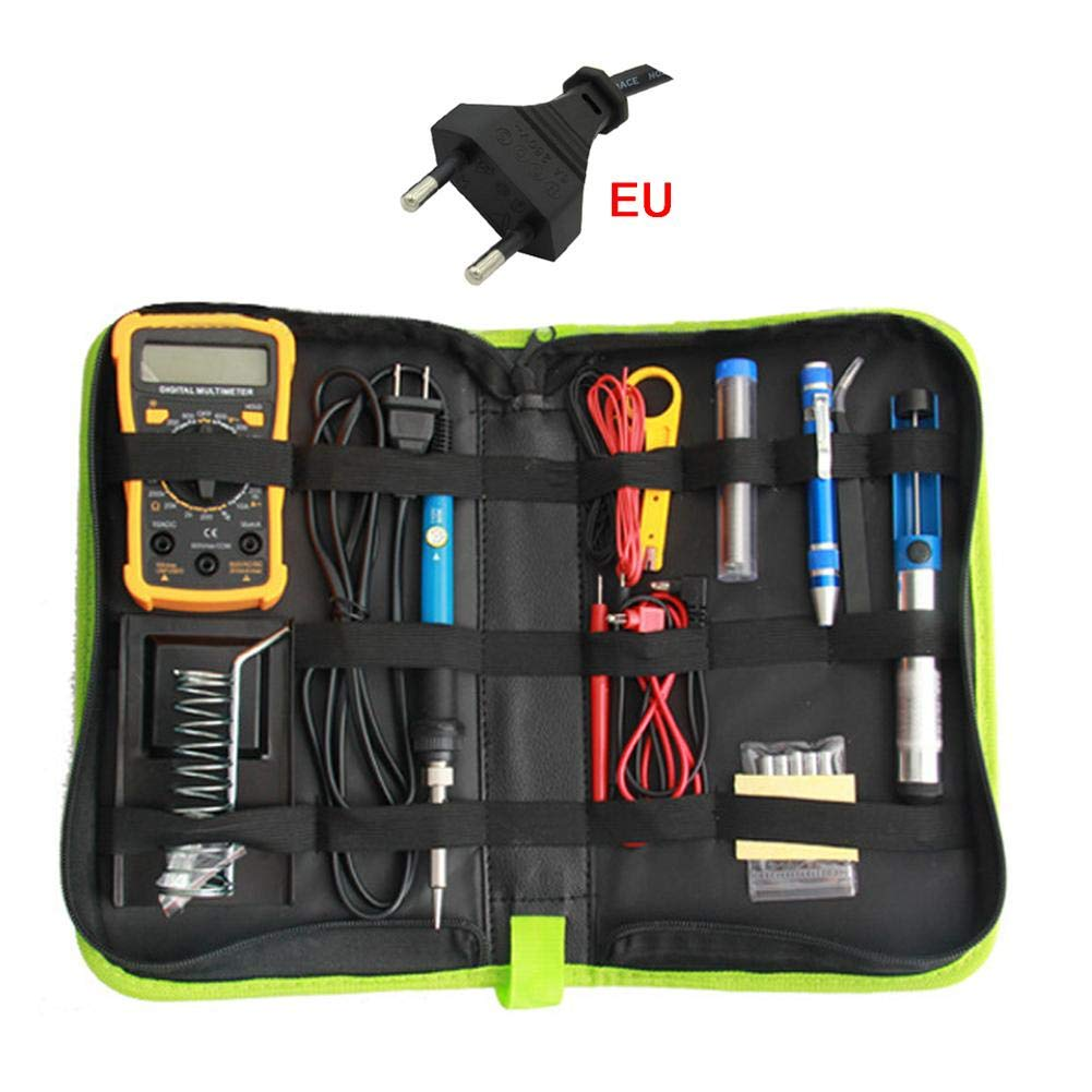 Kit de Fer à Souder Electrique, avec Sac à Outils, 60W Réglable Température, pour Débutant Electrique et Bricolage Maison et Bureau
