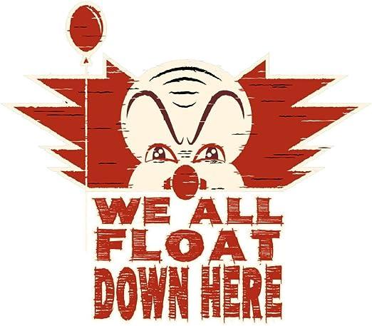 We All Float Down Here Horror Movie Clown Vinyl Sticker