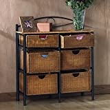 Harper Blvd Wicker 6-drawer Storage Chest