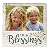 Our Blessings Whitewash 7 x 7 Wood Box Wall Photo Frame Plaque