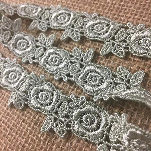 (Lace Trim Rose Flower Design Venise 1