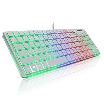 XF - Teclado de Escritorio, Cable USB, retroiluminación Colorida ...