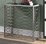 Cheap Convenience Concepts Gold Coast Tranquility Console Table, Silver / Black Glass