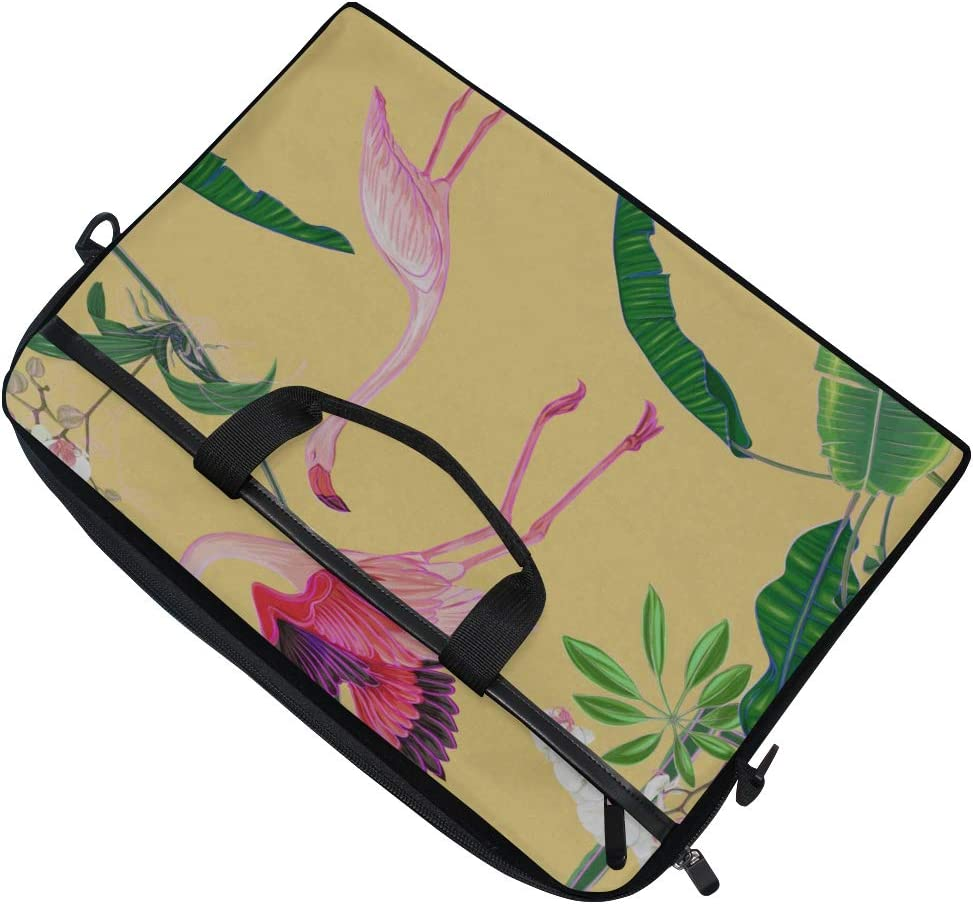 Laptop Bag Tropical Plants Flowers 15-15.4 Inch Laptop Case College Students Business People Office Briefcase Messenger Shoulder Bag for Men Women