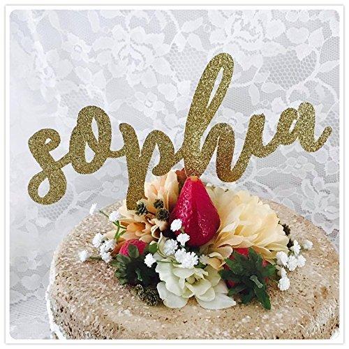 Name Birthday Party Cake - Birthday Name Cake Toppers