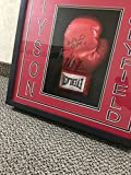 Mike Tyson Evander Holyfield Dual Autographed Signed Boxing Glove Custom Shadow Box Display Steiner Sports COA & Hologram