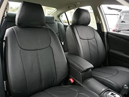 2012 Nissan Altima Clazzio Leather Seat Covers   Black   Full Set   Front  And Rear