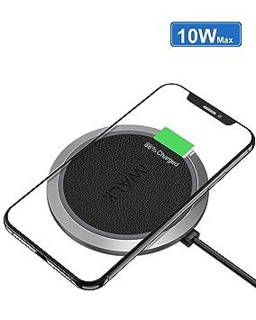 iWALK Cargador inalámbrico Qi 10W Max, Universal Carga Rápida Compatible para iPhone 8/8 Plus/X Samsung Galaxy S8 S7 S6 Edge Note 8/5 Nexus7/6/5/4