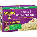 vegan cheese its - Annie's Macaroni and Cheese, Shells & White Cheddar Mac and Cheese, 6 Ounce, 24 Count (Pack of 4)