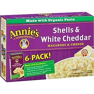 Annie's Natural Shells & White Cheddar Macaroni & Cheese 36 oz Box (Pack of 24)