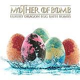 Bath Bombs Gift Set - 5 Lush Dragon Eggs - 9oz Jumbo Bathbombs - Color Bath Bombs