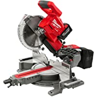 Milwaukee Electric Tool M18 Fuel Dual Bevel Sliding, Compound Miter Saw w/Extra Blade + Milwaukee 48-08-0551 Folding Miter Saw Stand