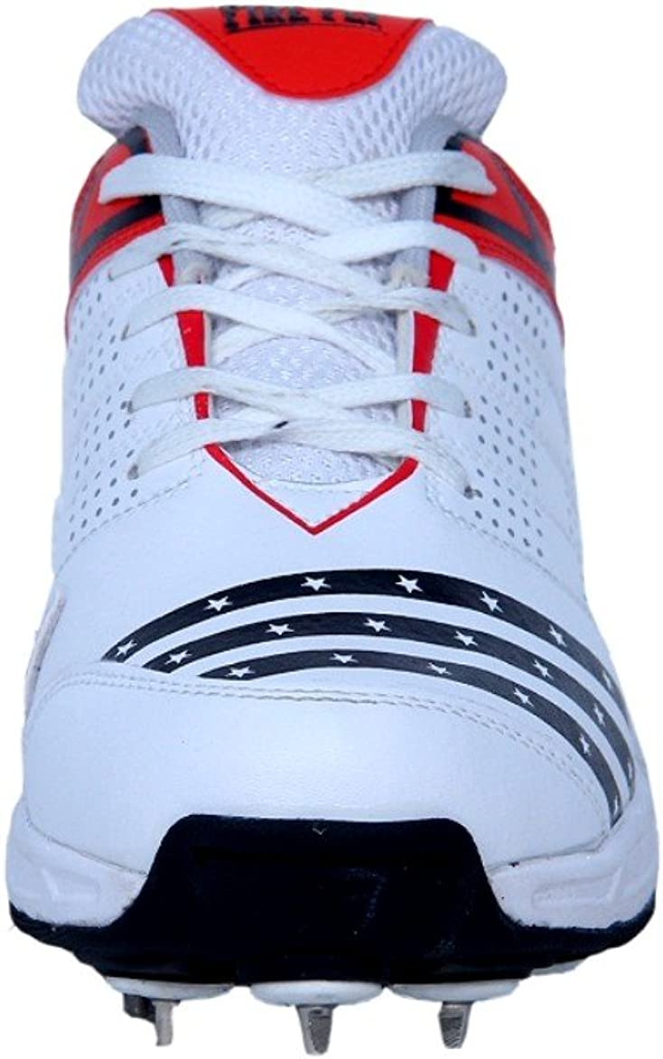 Senior Adult Cricket Shoes Spike Shoes for Men FIRE FLY Howzat Cricket Shoes Breathable Mens Sports Shoes Men