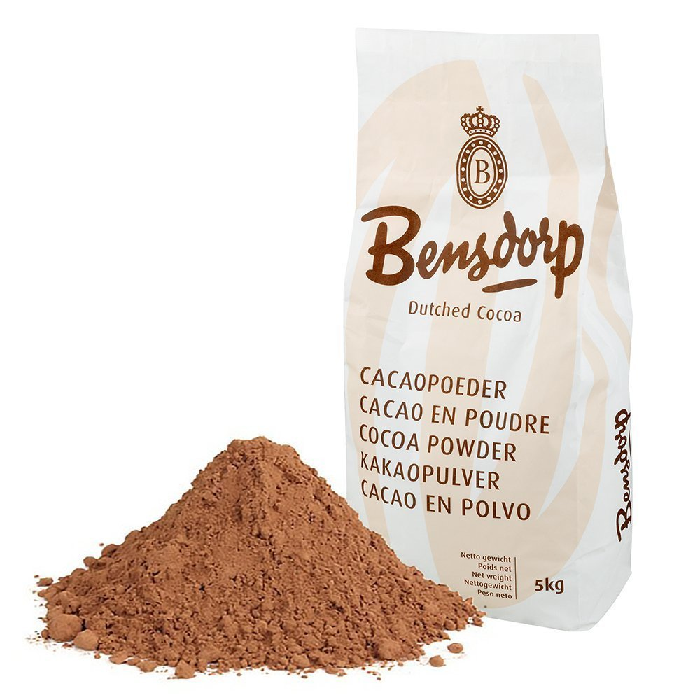 Bensdorp (Barry Callebaut) High Fat Cocoa Powder | 22/24% Cocoa Butter Content | Great for mousse, cremes, biscuits, ice cream, confectionary, decoration, hot chocolate, Made in Belgium (2 x 11Lbs)
