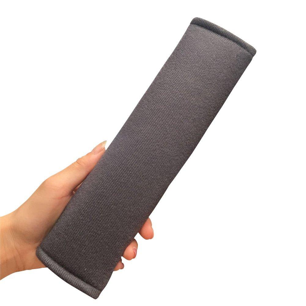 Gray Grigio Ganquer Cintura di Sicurezza Copertura Tracolla Pastiglie 1 Coppia Comodo Spessore Sicurezza Bambini Universale Cover Imbracatura Resistente Morbido Peluche Auto Accessori