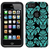 OtterBox Commuter Apple iPhone 5 & iPhone 5S Case - Damask Floral Turquoise on Black OtterBox Case