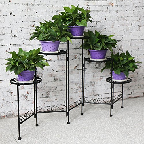 HLC 5-tier Folding Plant Stand Screen