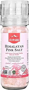 Anthela Himalayan Pink Salt, Coarse Grain Mini Mill 3.8oz, Premium Organic Gourmet 100% Pure Ancient Mineral Sea Salt.Non-GMO, Kosher, Halal, Sedex Certified.