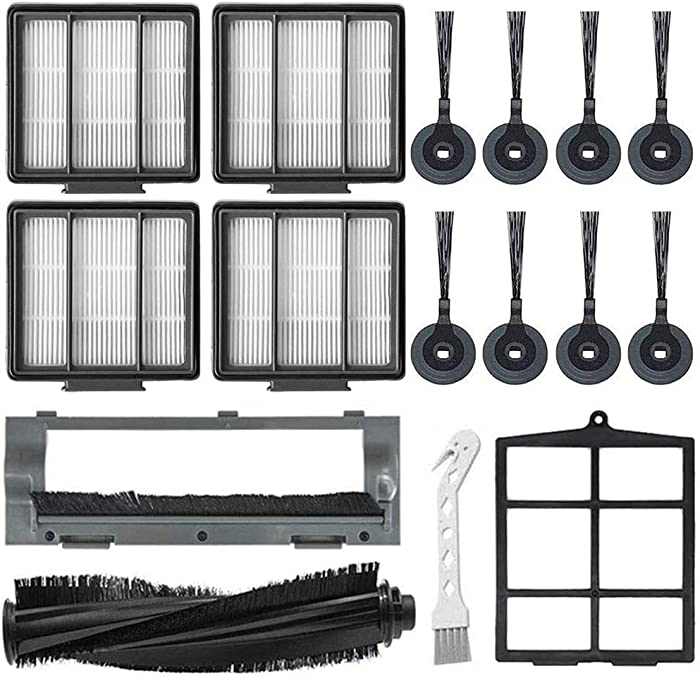 Mochenli Replacement Parts for Shark ION Robot S87 R85 RV850, RV850WV, RV851WV Vacuum Cleaner Accessory Kit Pack of 8 Side Brushes,4 HEPA Filters,1 Primary Filter,1 Main Brush,1 Main Brush Guard
