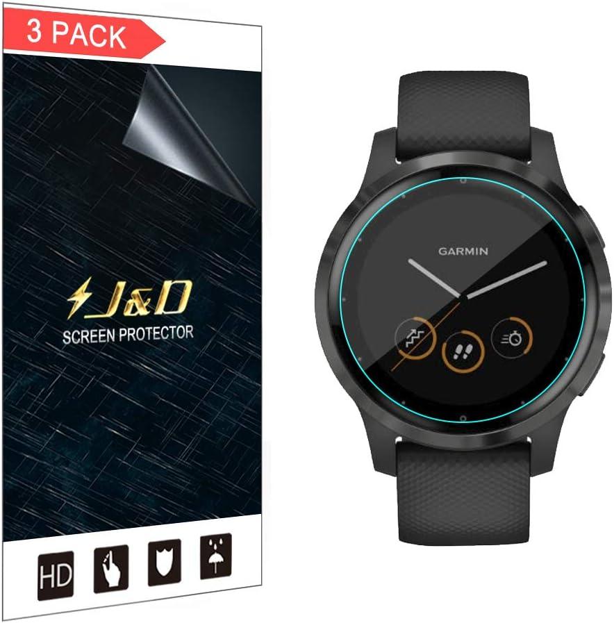 J&D Compatible para Garmin Vivoactive 4s 40mm Protector de Pantalla (No de Vidrio), 3 Paquetes [Cobertura Completa] [Anti-Rasguños] HD Claro TPU Protector de Pantalla para Garmin Vivoactive 4s 40mm: Amazon.es: Electrónica