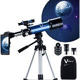 Vanstarry Telescopes for Kids, Travel Kids Telescope, 70mm Aperture 400mm AZ Mount Astronomical Refractor Telescopes for…