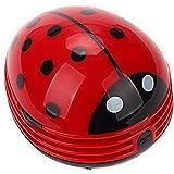 Bhbuy Portable Beetle Ladybug Mini Desktop Vacuum Desk Dust Cleaner