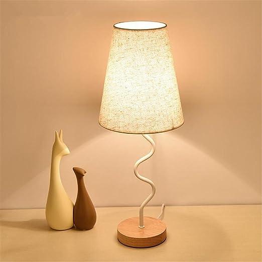 Amazon.com: Lámpara de mesa, moderna E27 creativa doblada de ...
