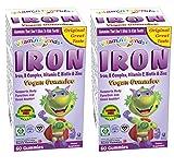 gummy bear with iron - Vitamin Friends Iron Vegan Gummies - Kosher, Allergen Free - 2 Pack