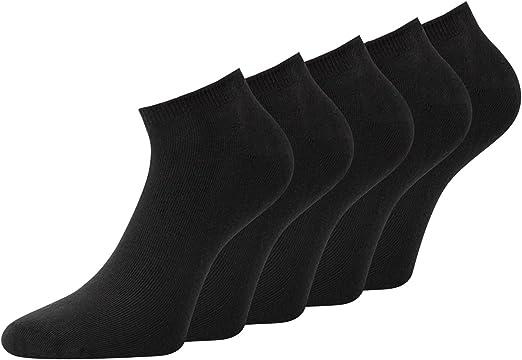 Men's Trainer Socks Black 80% Cotton