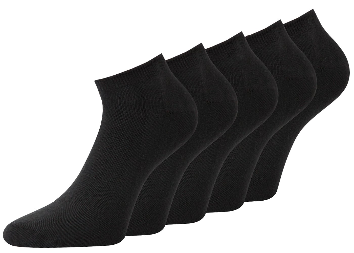 Sneaker Socken Herren Sneaker Socken schwarz und farbig 43-46 47-50 39-42 Baumwolle 10 Paar 1-94000-10