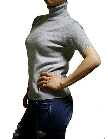 Women's Short Sleeve Turtle Neck Top