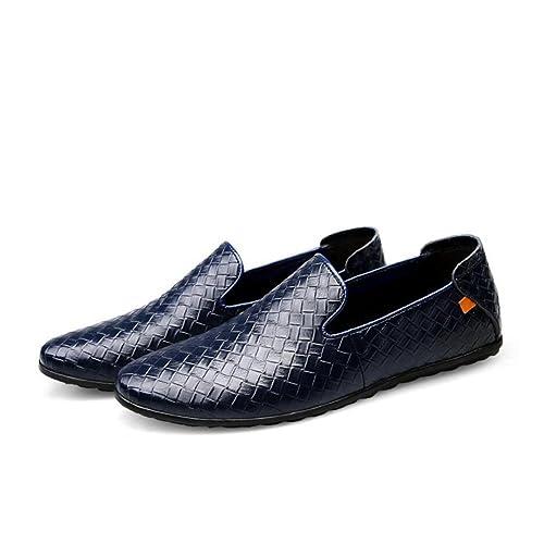 Zapatos Casuales para Hombres, Zapatos de Trabajo de Negocios, Mocasines Planos, Zapatos de conducción, Zapatos de Moda para Hombres de Confort: Amazon.es: ...