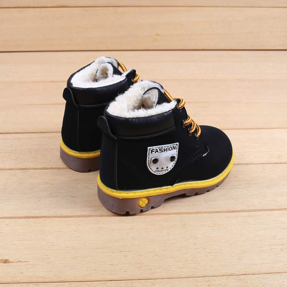 BANAA Stivali Bambino Ragazza Ragazzo Scarpe Martin Scarpe Invernali Caldo  Sneaker Paillettes Eleganti Stivali Antiscivolo Stivaletti ingrandisci 17e998e6388