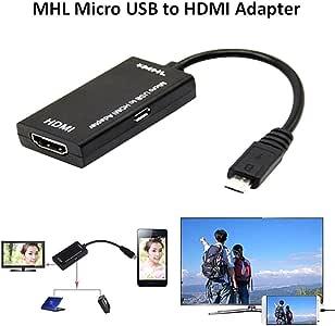 Renoble - Adaptador de Cable Micro USB a HDMI (HD 1080P, Cable MHL HDTV para teléfono o Tablet): Amazon.es: Electrónica