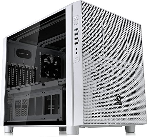 Thermaltake Core X5Negro E-ATX apilables refrigeración líquida Certified cubeta Chasis Casos, Tempered Glass Snow