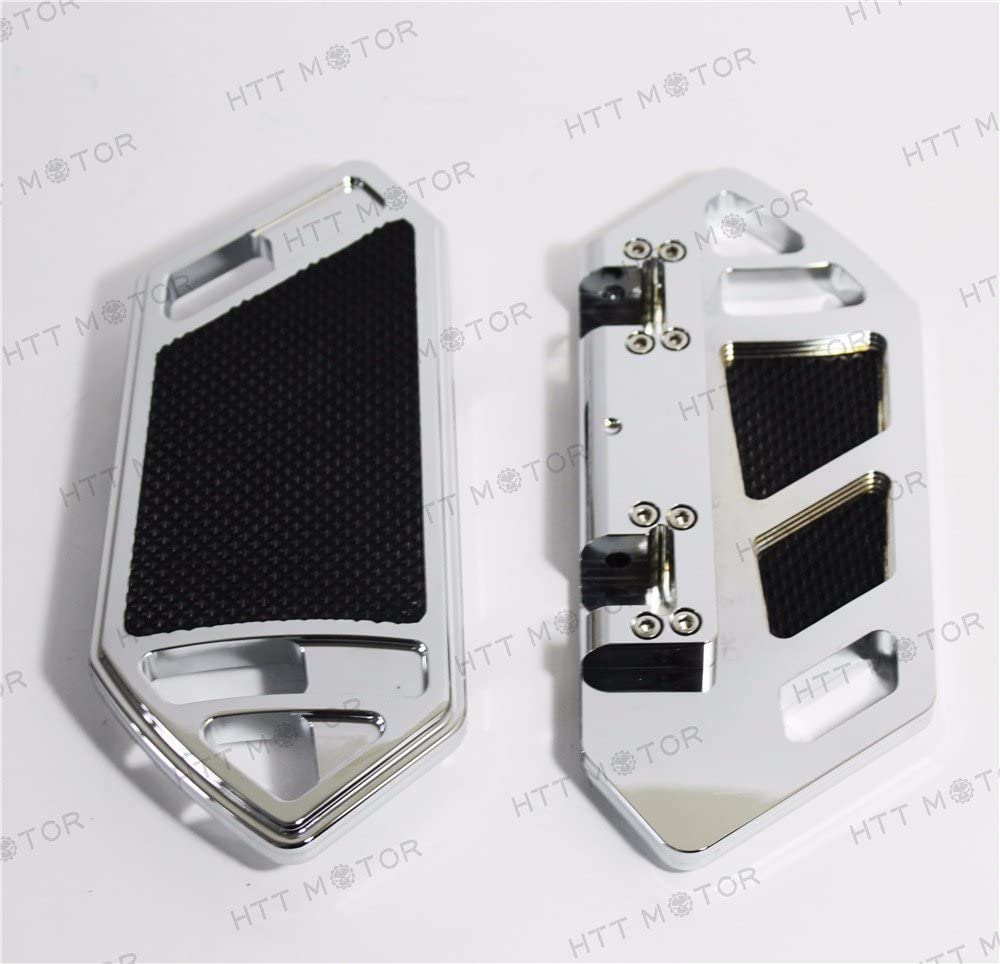 Chrome Deep Cutting Passenger Foot Boards Floorboard Compatible with Harley Touring/&Softai HTTMT H1318