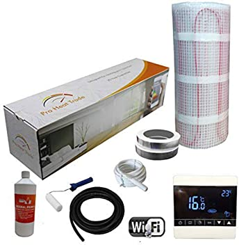 14.0m2 Black Smart WiFi Thermostat Electric Underfloor Heating kit 150w
