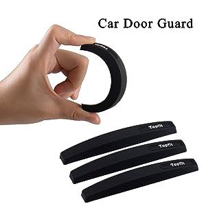 Car Side Door Guard Edge Defender Protector Trim Guard Sticker Fit for Most Car (Black,4 pcs set)