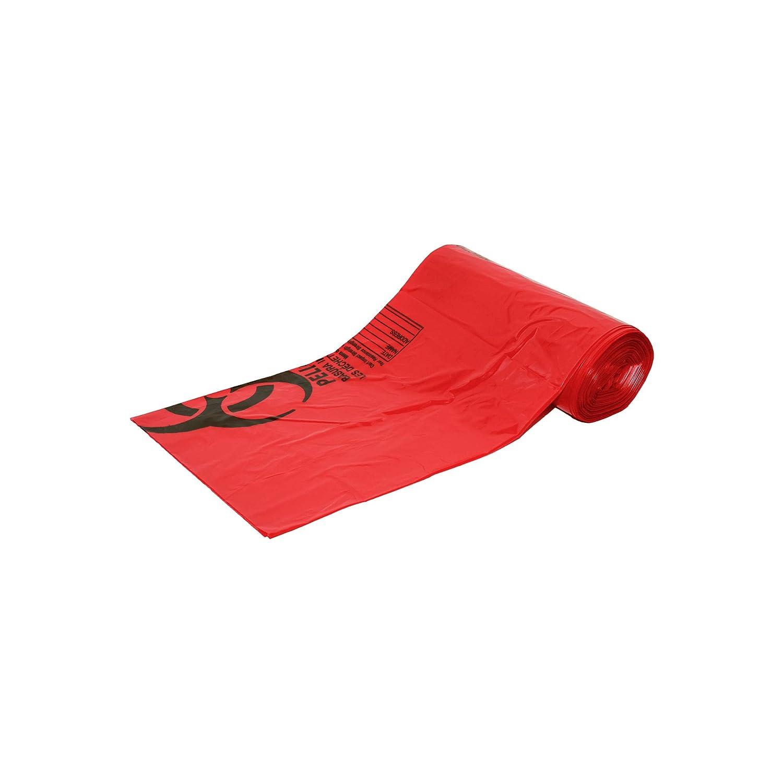 Amazon.com: Red Biohazard Bolsas, Rojo: Industrial & Scientific
