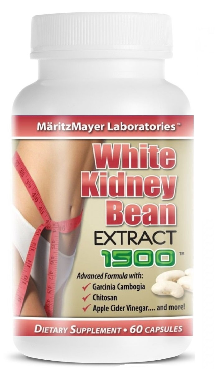 White Kidney Bean Extract w/ Garcinia Cambogia Weight Loss Fat Burner 1500mg by MaritzMayer Laboratories B00T5TPLL0