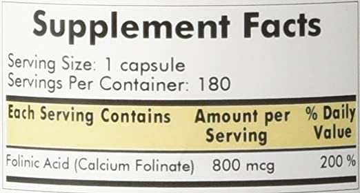 Amazon.com: Kirkman Labs folinic Acid 800 mcg 180 Cápsulas ...