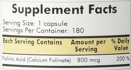 Amazon.com: Kirkman Labs folinic Acid 800 mcg 180 Cápsulas ...