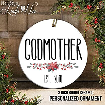 Amazon.com: Ornaments Godfather, Gift for Godparents, Godfather ...