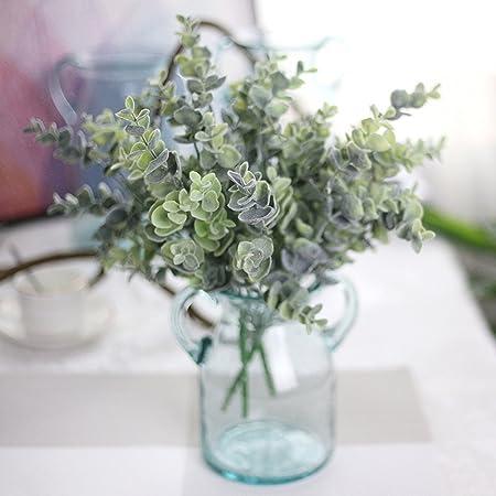 Display08 - Flores artificiales de eucalipto, decoración para el hogar, jardín, boda, fiesta: Amazon.es: Hogar