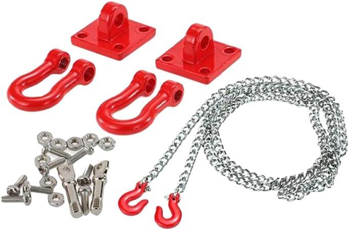 Yundxi Rc Crawler 1 10 Tow Haken Kette Anhängerkupplung Kettenhaken Halter Für Axial Scx10 Rc4wd D90 D110 Tf2 Set 1 Spielzeug