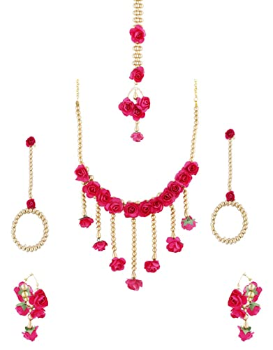 Buy Anuradha Art Adorable Pink Colour Mehandi Jewellery Flower