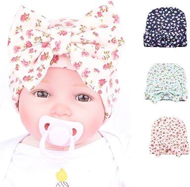 Pink and White Stripe Knit Newborn Hospital Hat w// Rhinestone and Bow-Photo Prop